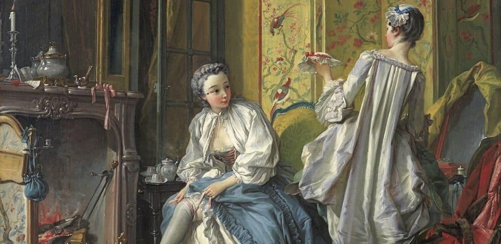 Девушки из высшего общества в средние века