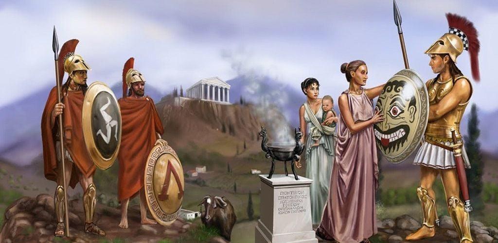 Фраза спартанских жен и матерей «Со щитом или на щите