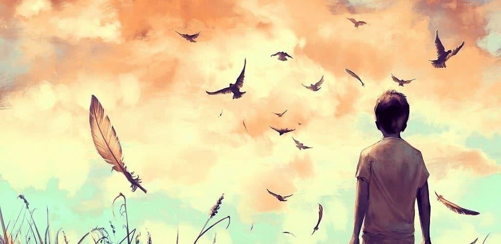Мальчик - птица