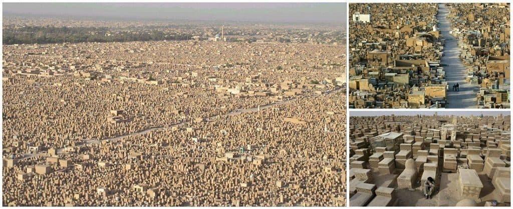 Кладбище в городе Ан-Наджафи на юге Ирака