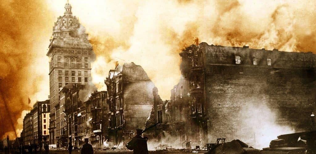 Крупный пожар в Сан-Франциско 18 апреля 1906 года