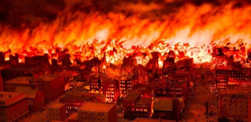 Пожар в Пештиго в 1871 году