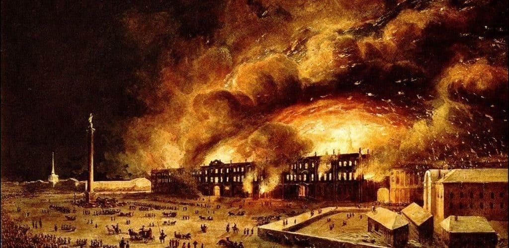 Зимний дворец - пожар в 1837 году