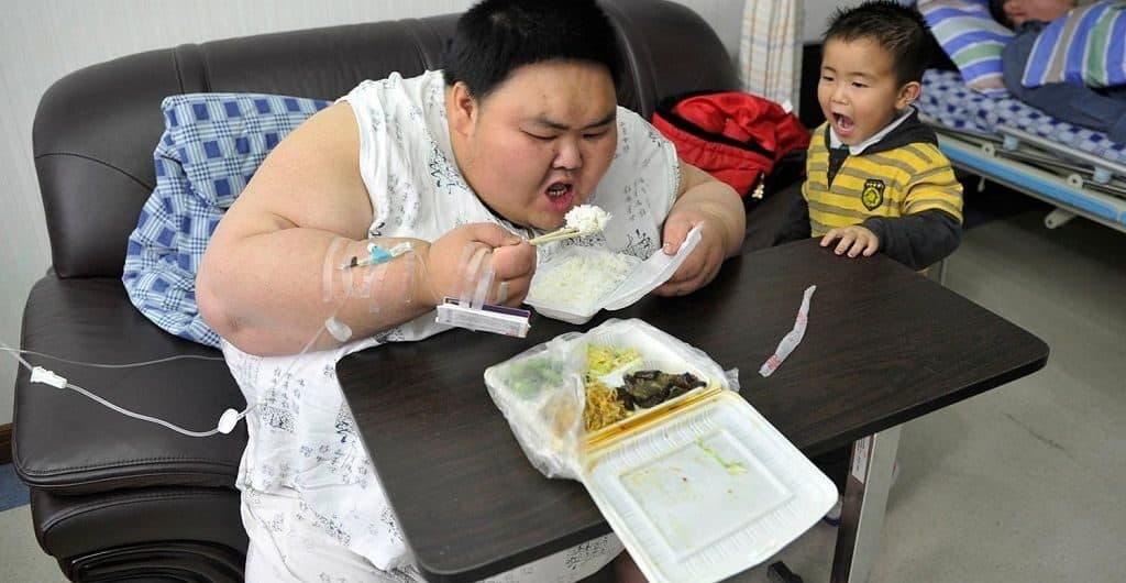 Лу Хао - толстый мальчик из Китая