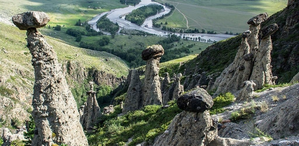 Грибы из камня на Алтае