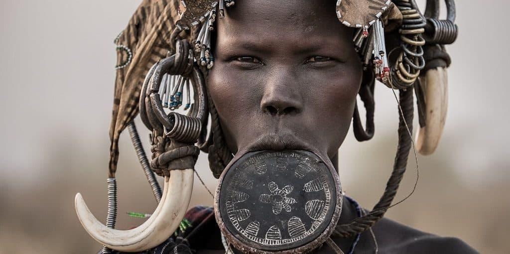 Девушка племени марси