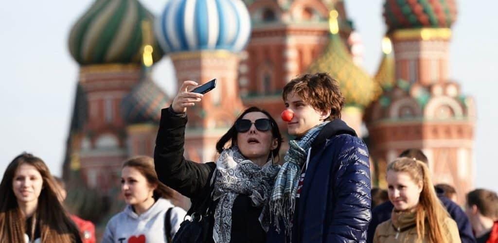 Иностранцы на Красной площади