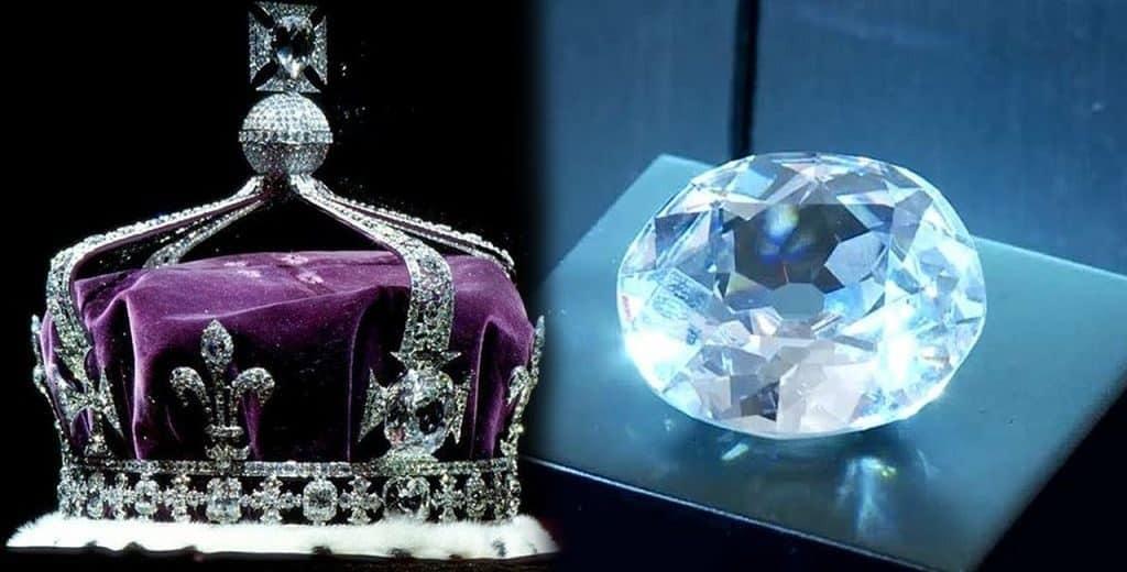 Кохинор в короне королевы Елизаветы