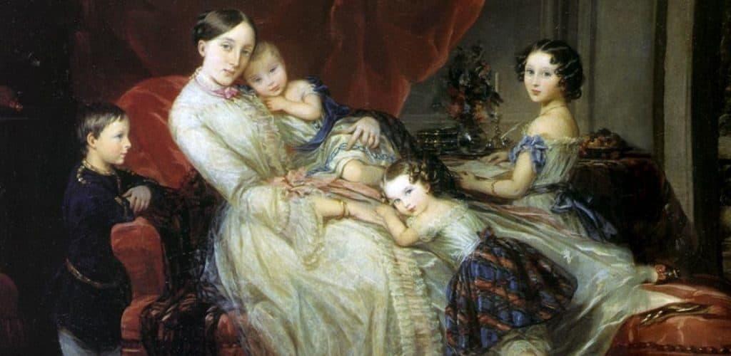 Первая жена Тютчева с детьми