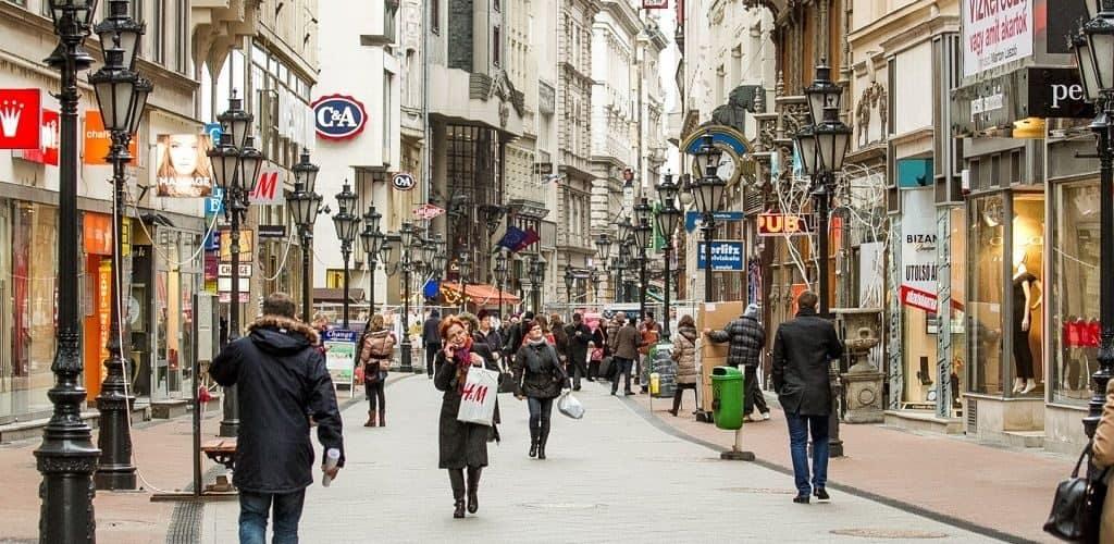 Будапешт, улица Ваци