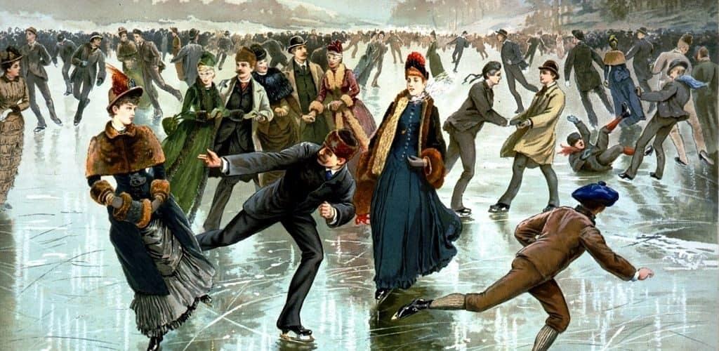Катание на коньках в 19 веке
