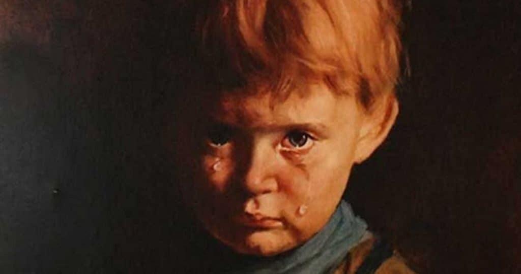 """""""Плачущий мальчик"""" Бруно Амадио"""