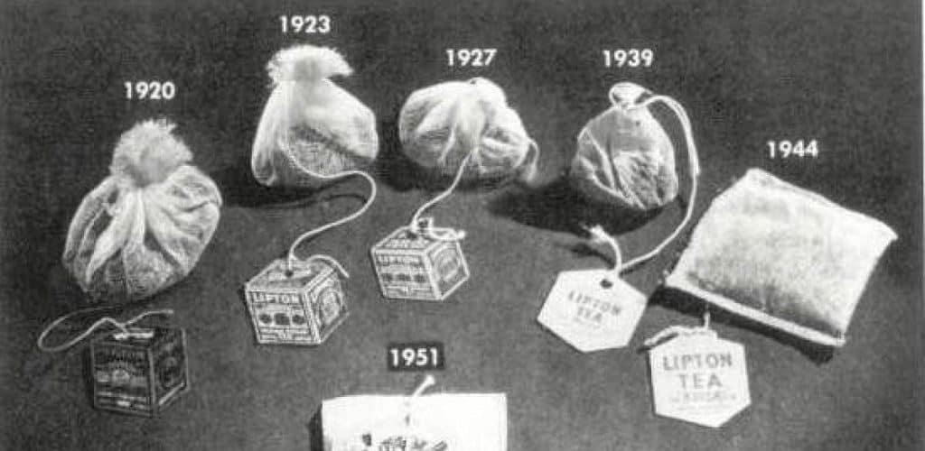 Первые чайные пакетики