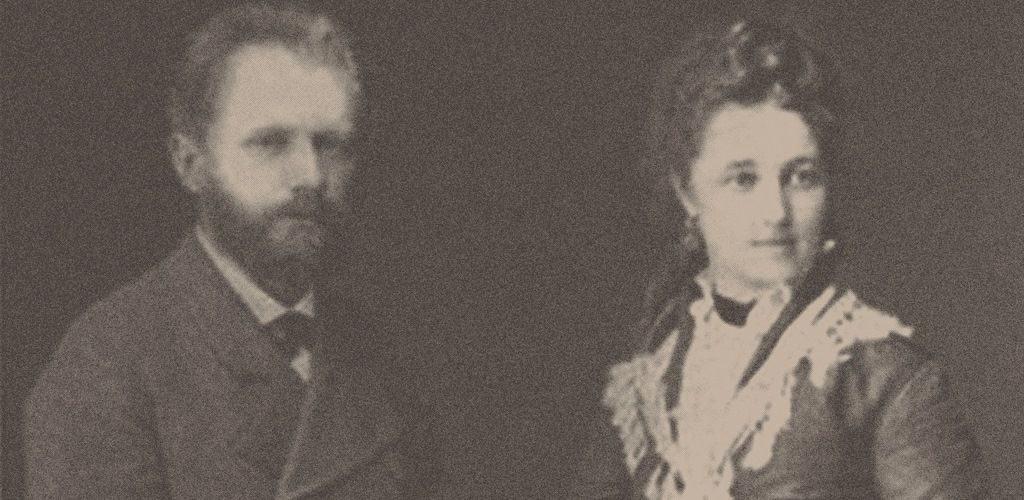 Петр Чайковский с женой - Антониной Милюковой