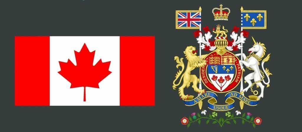 Канадский флаг и герб