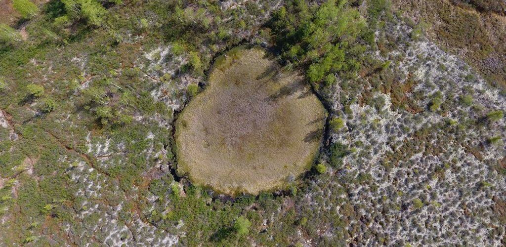 Воронка от падения метеорита
