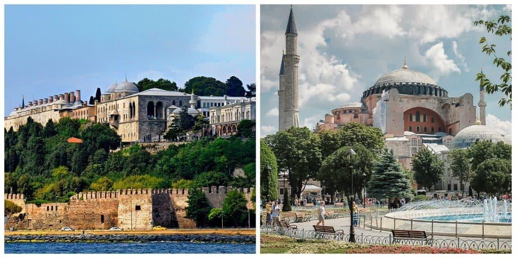 Дворец Топкапы, собор Айя-Софья в Стамбуле