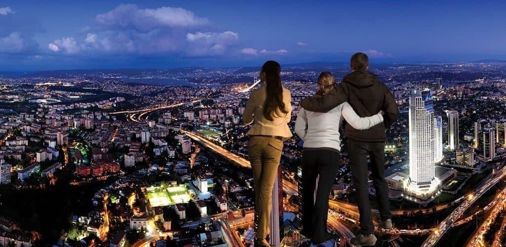 """Обзор города в 4D-формате с небоскреба """"Сапфир"""""""