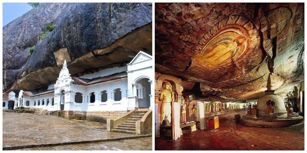 Храм в пещерном комплексе в Дамбулле