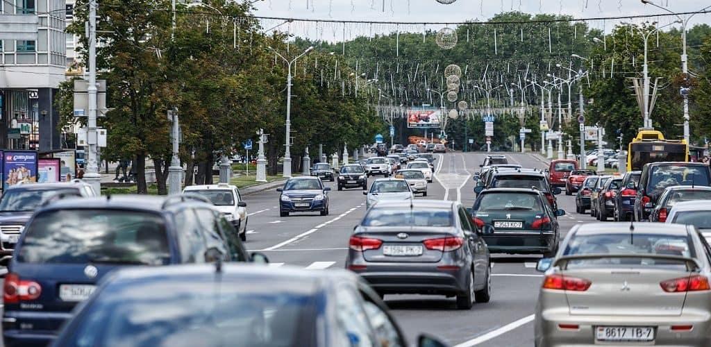 Дорожное движение в Минске