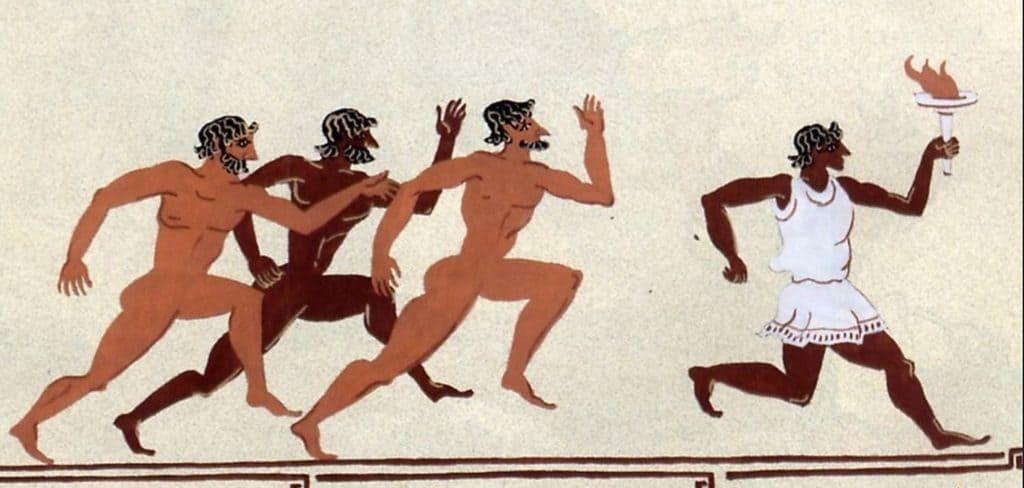 Иллюстрация к эстафете олимпийского огня