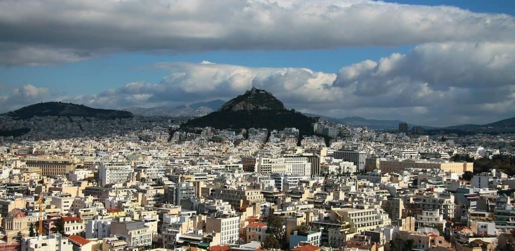 Панорамная съемка Афин