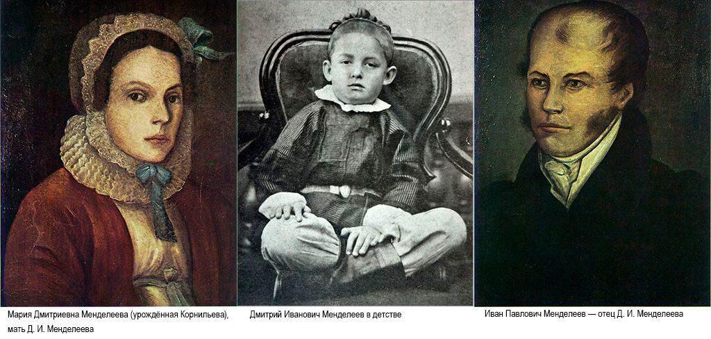 Менделеев с родителями
