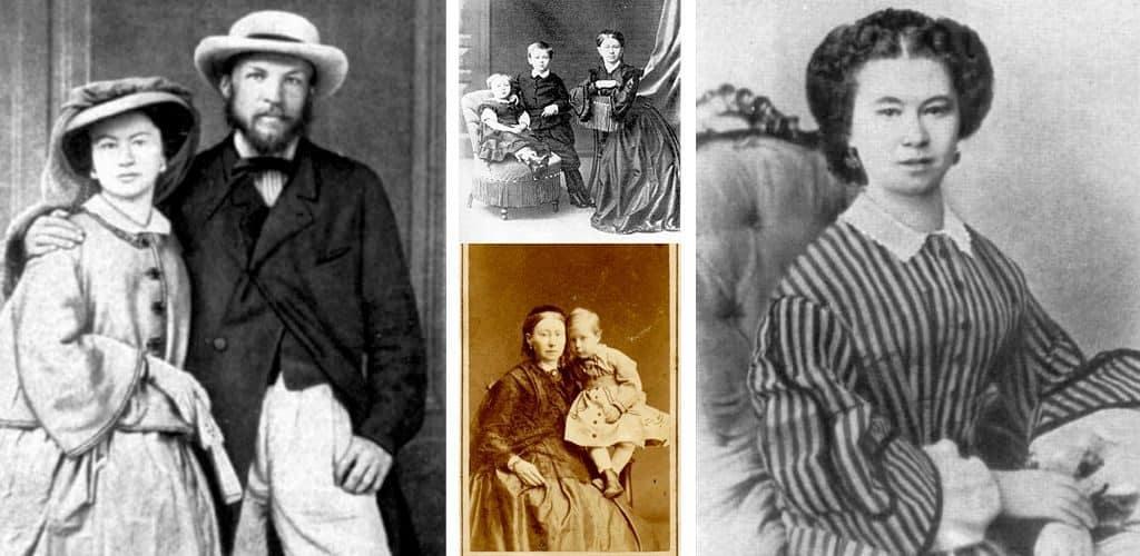 Менделеев с первой женой и детьми
