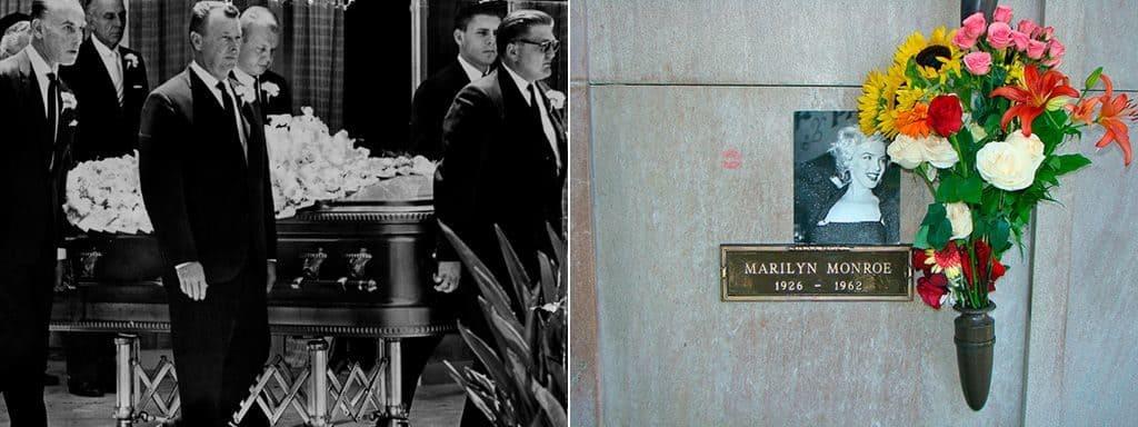 Похороны и могила знаменитой Мэрилин Монро