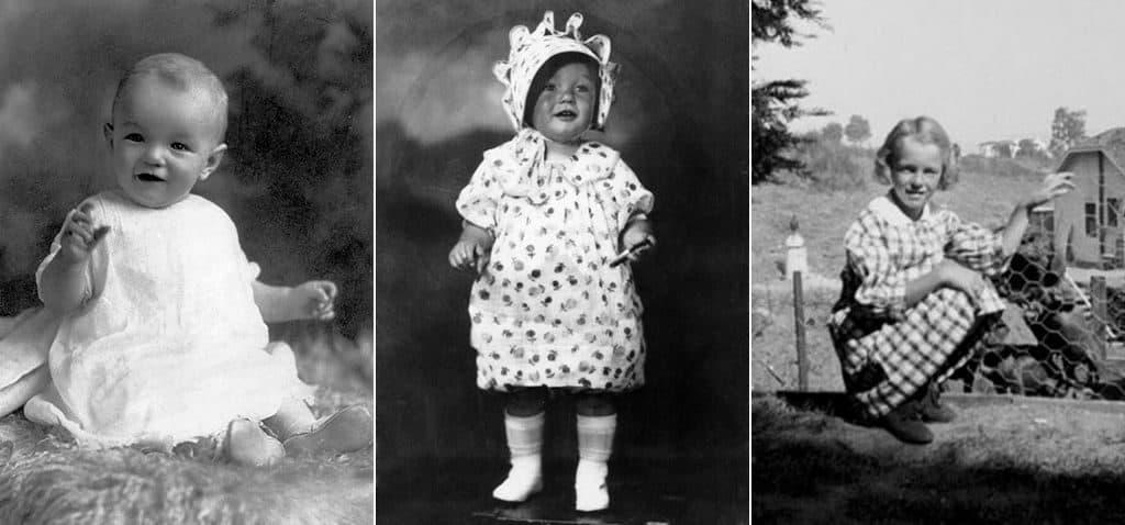 Норма Джин (Мэрилин Монро) в детстве