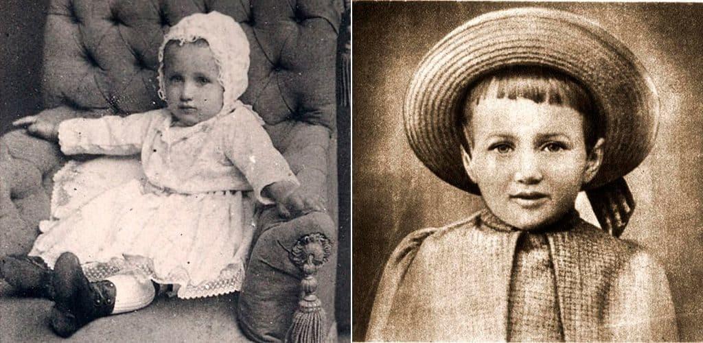 Анна Горенко (Ахматова) в детстве
