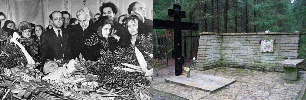 Похороны Ахматовой и ее могила