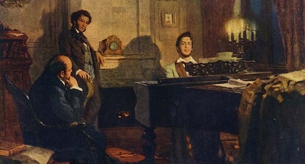 Глинка, Пушкин и Жуковский