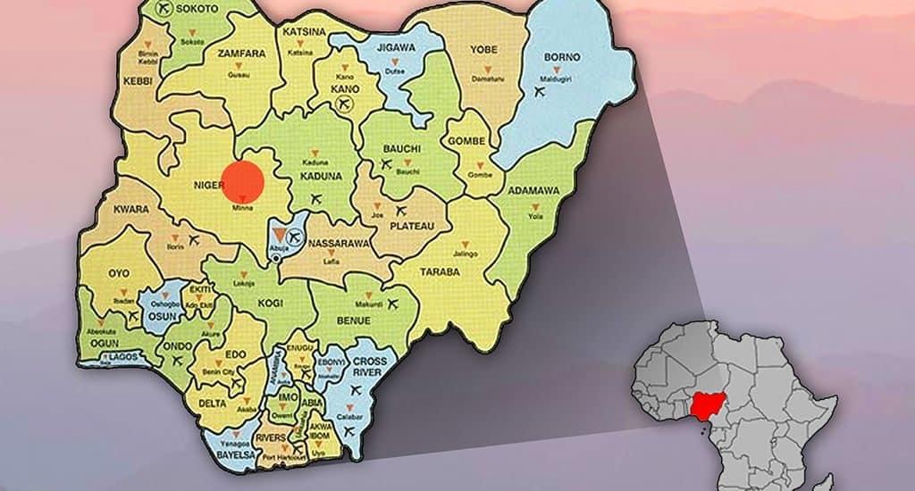 Карта Нигерии