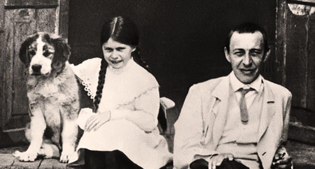Сергей Рахманинов с дочкой