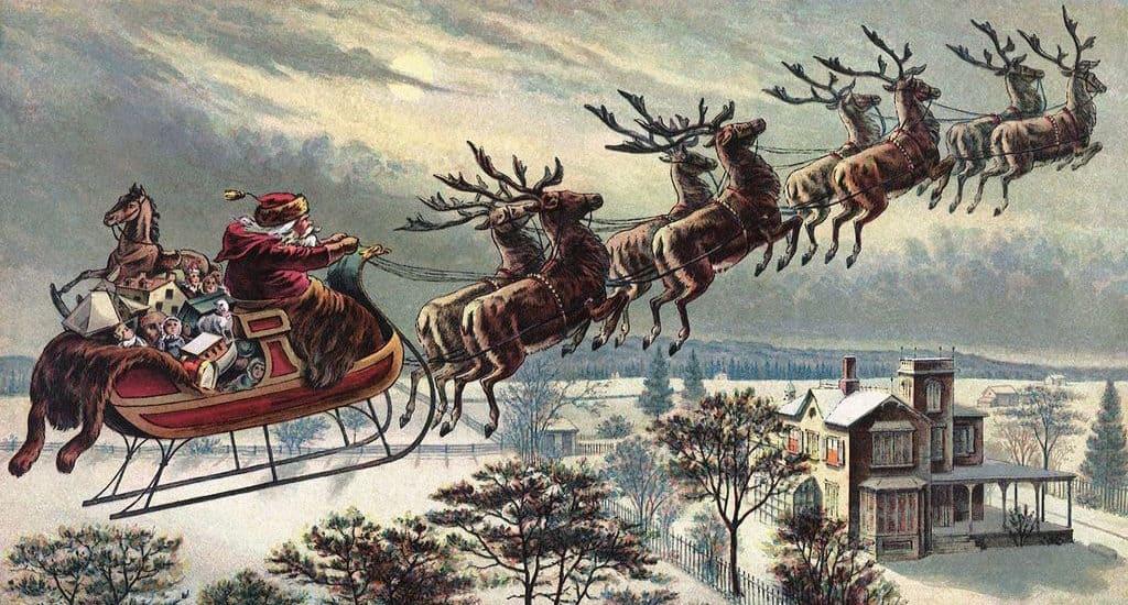 Упряжка Санта-Клауса