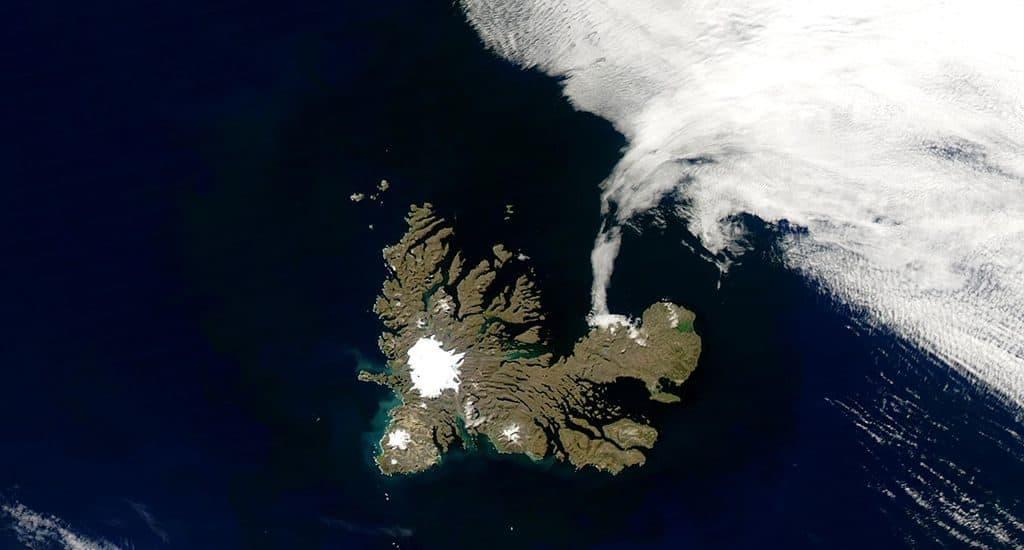 Острова Кергелен - вид из космоса