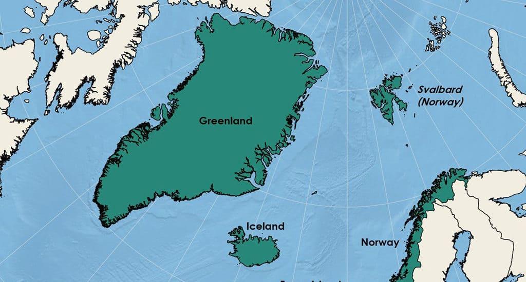 Гренландия и Исландия