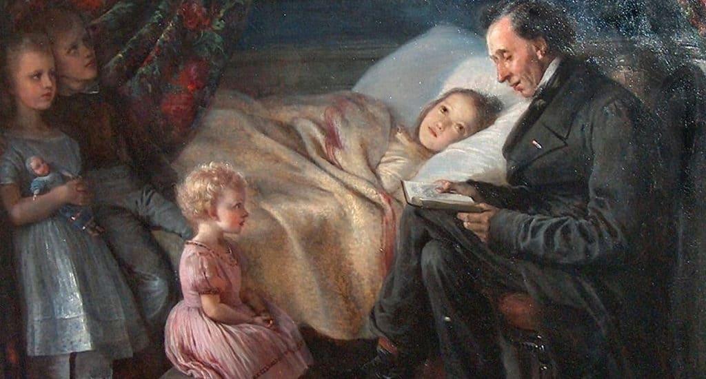 Андерсен читает детям