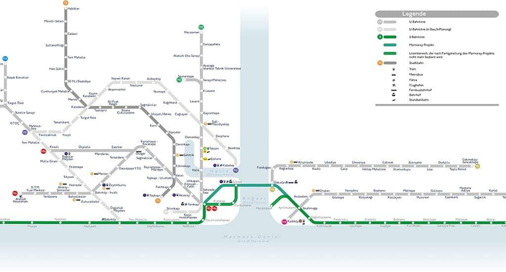 Ветка метро под Босфором