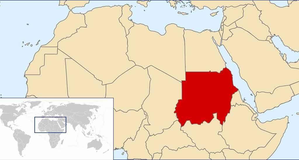 Судан на карте