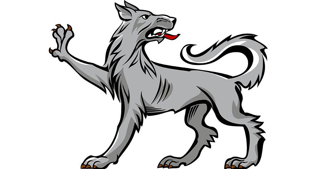Изображение волка на гербе