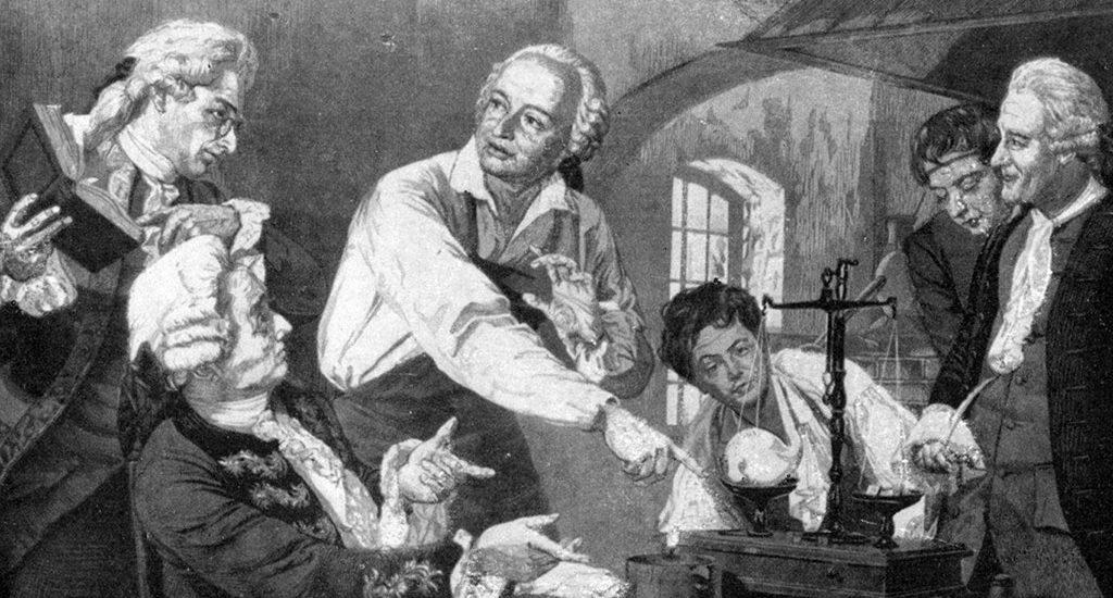 Ломоносов в химической лаборатории