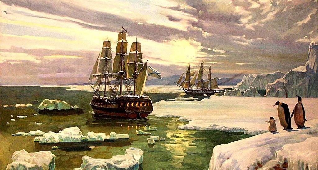 Роль Ломоносова в открытии Антарктиды