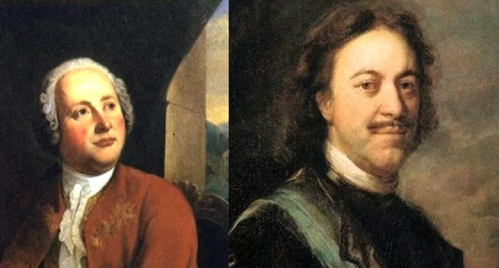 Ломоносов и Петр 1
