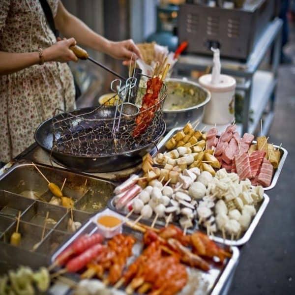 Китайская кухня на улице