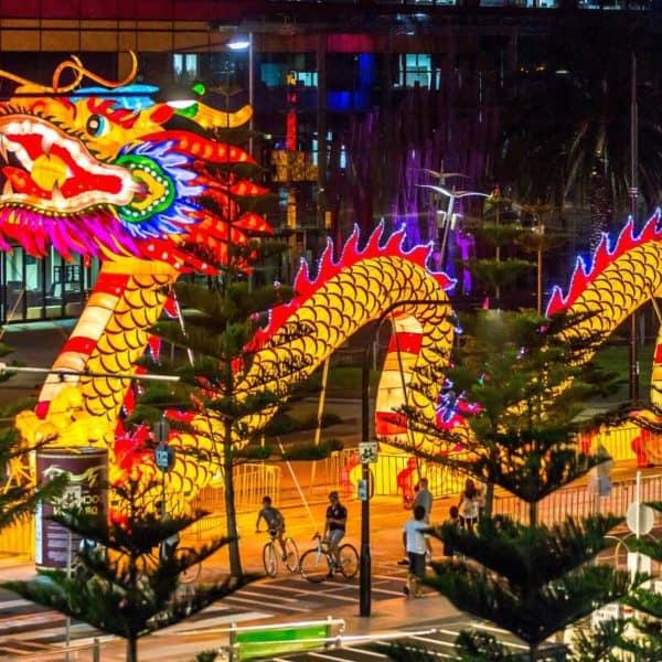 Иллюминация - китайский дракон