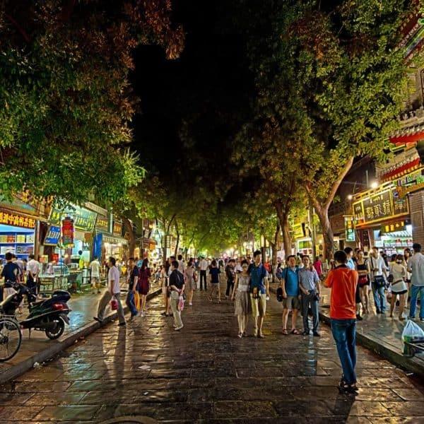 Ночные китайские улочки