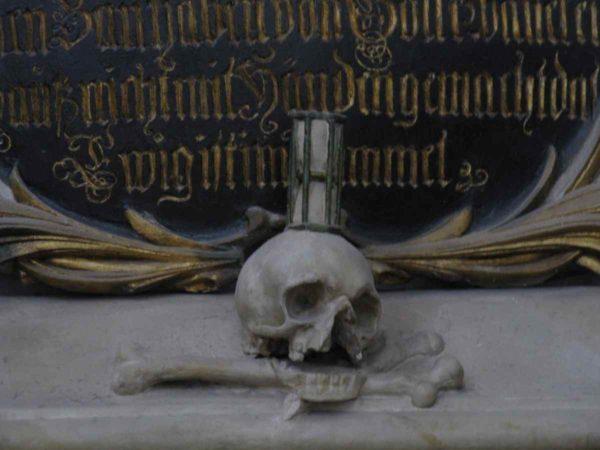 Черепа с костями в Marien Kirche