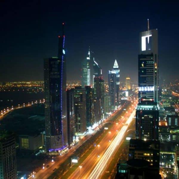 Ночной Дубай с высоты